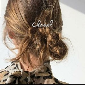 Chanel Pearl & Stone Hairclip
